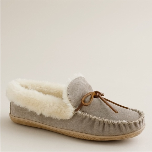 140804a814a J. Crew Women's Lodge Moccasins in Gray